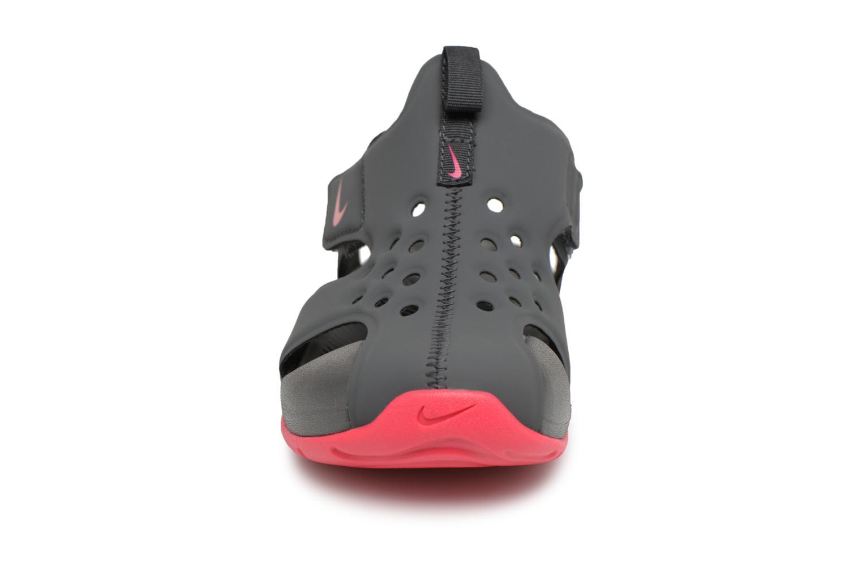 Sandales et nu-pieds Nike Nike Sunray Protect 2 (Ps) Gris vue portées chaussures