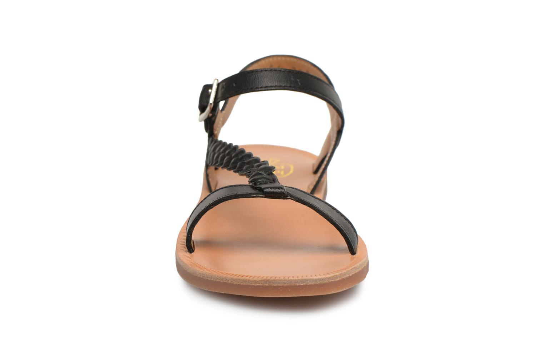Sandales et nu-pieds Pom d Api Plagette Antik Noir vue portées chaussures