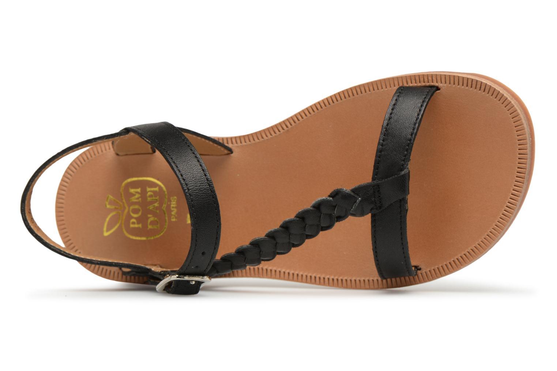 Sandales et nu-pieds Pom d Api Plagette Antik Noir vue gauche