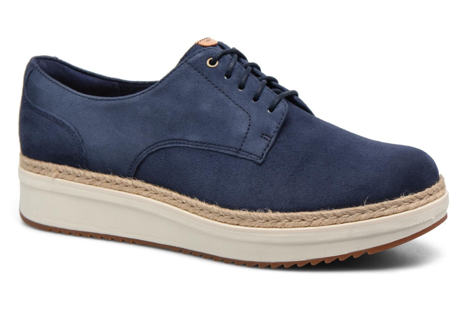 Lace-up shoes Clarks Teadale Rhea Black detailed view/ Pair view