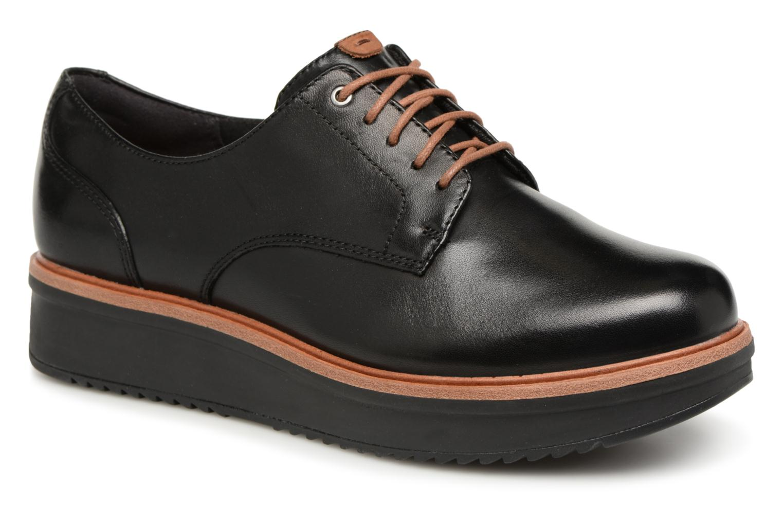 Zapatos de hombres y mujeres casual de moda casual mujeres Clarks Teadale Rhea (Negro) - Zapatos con cordones en Más cómodo 671851