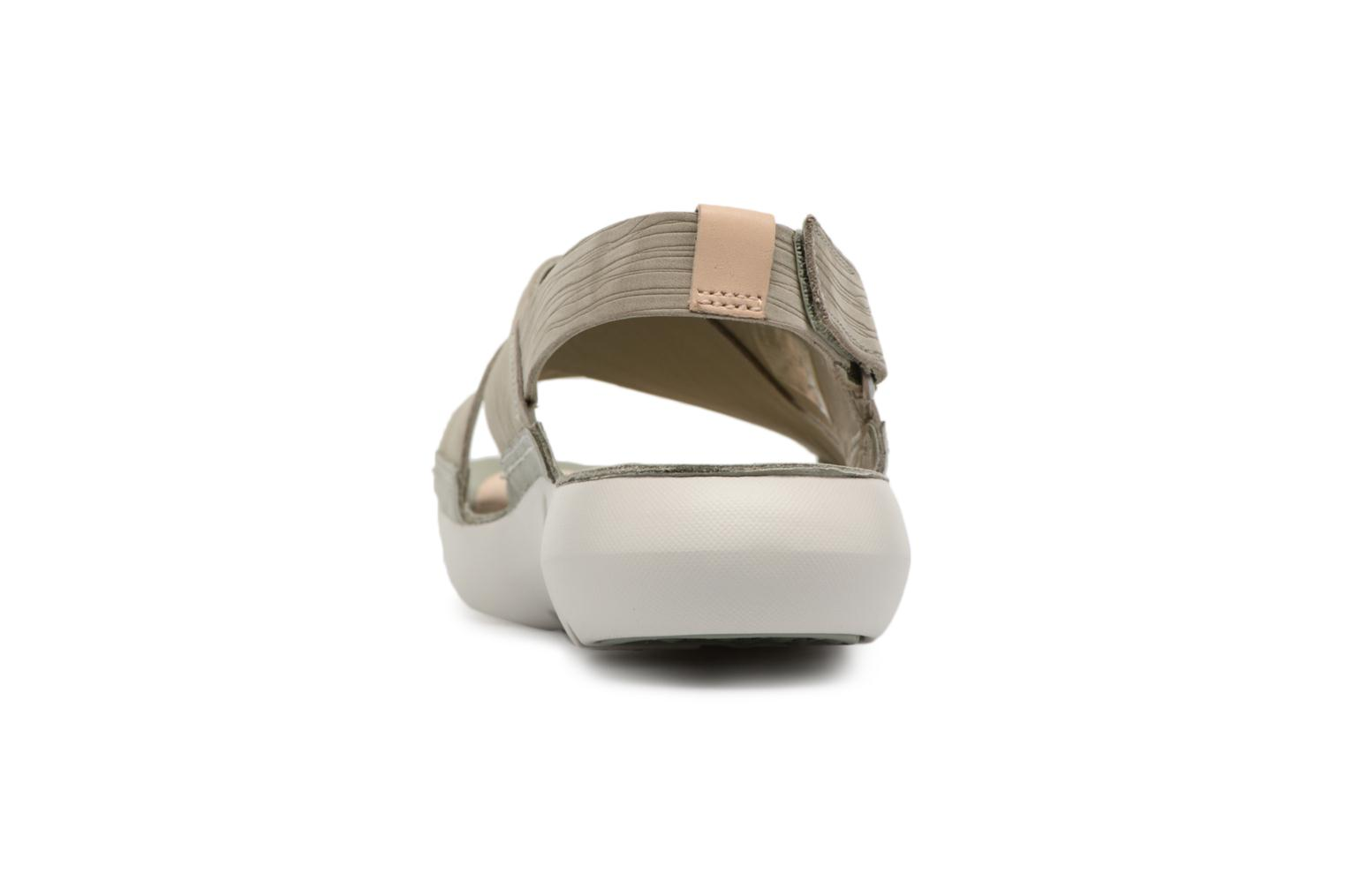 Sandals Clarks Tri Chloe Green view from the right