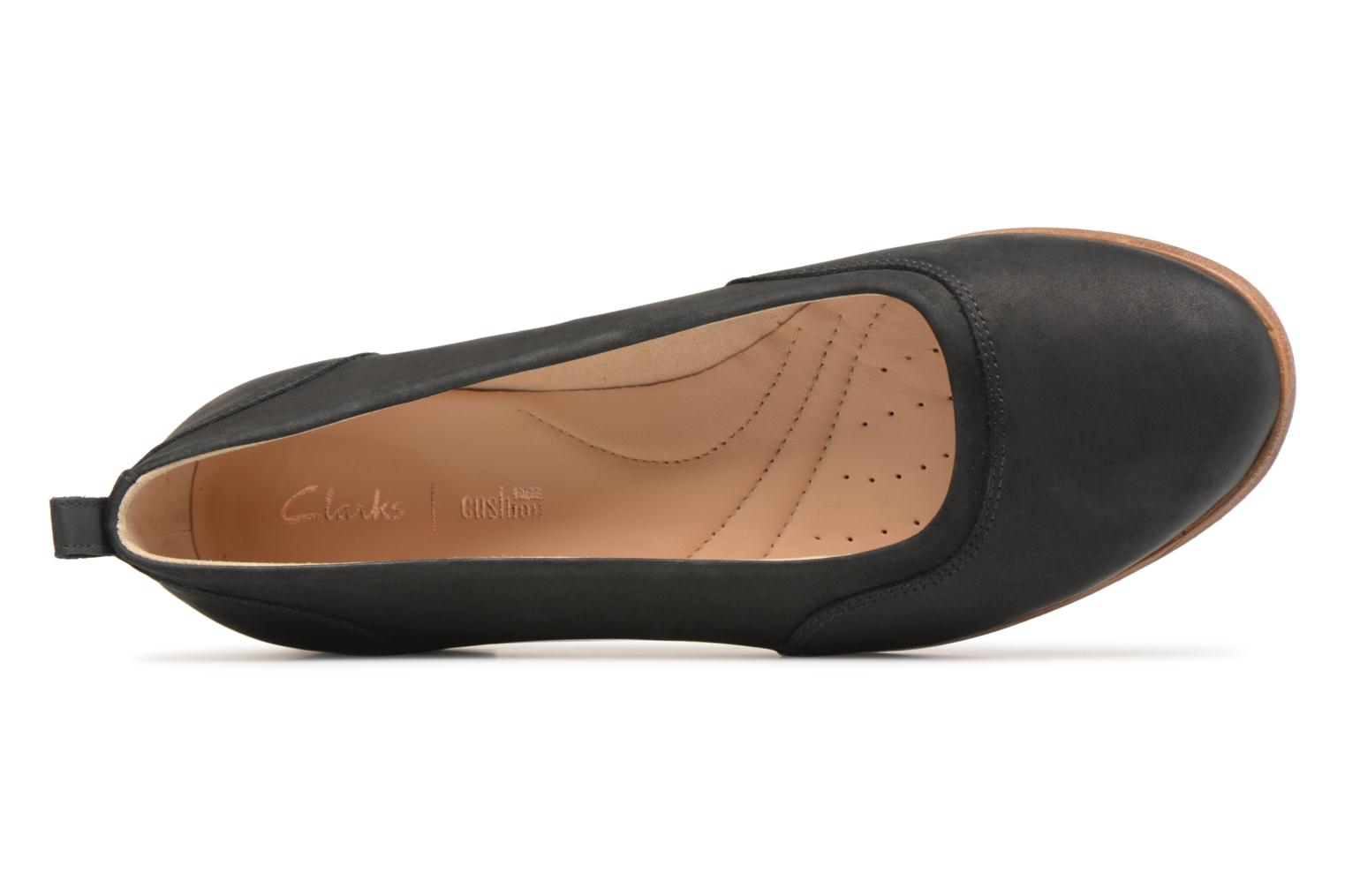Ballet pumps Clarks Alice Ivy Black view from the left