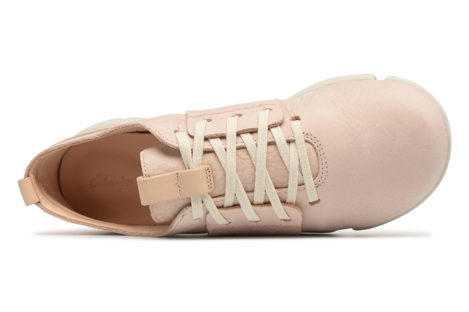 Trainers Clarks Tri Caitlin Beige view from the left