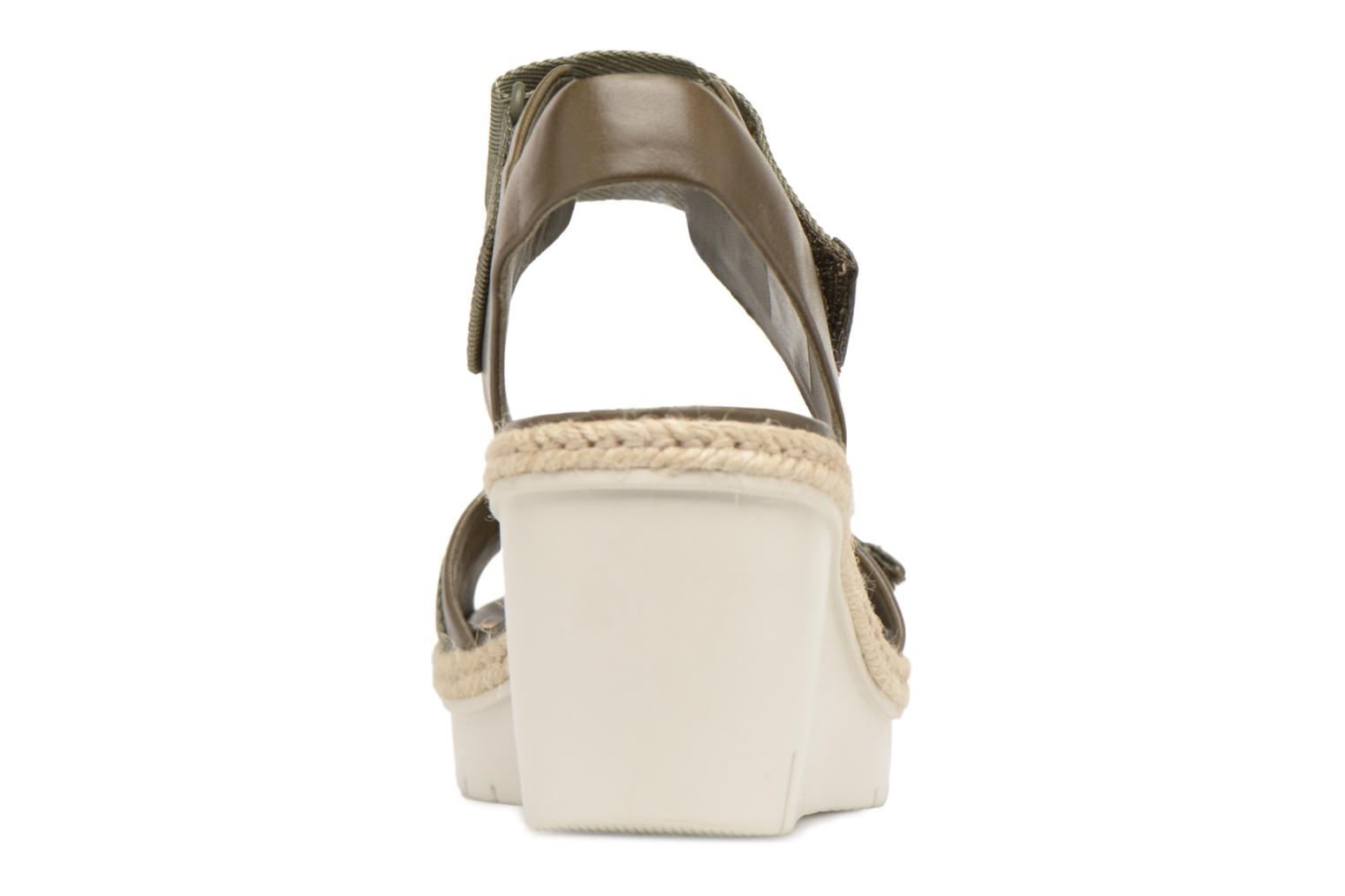 Sandals Clarks Palm Shine Green view from the right
