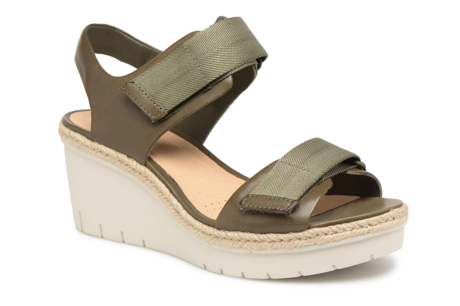 Marques Chaussure femme Clarks femme Palm Shine Khaki leather