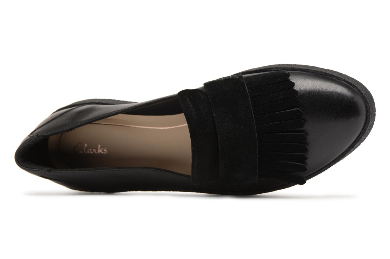 Loafers Clarks Lillia Lottie Black view from the left