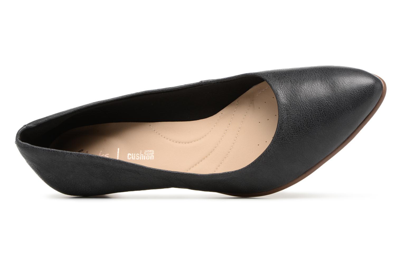 Mena Bloom Black leather
