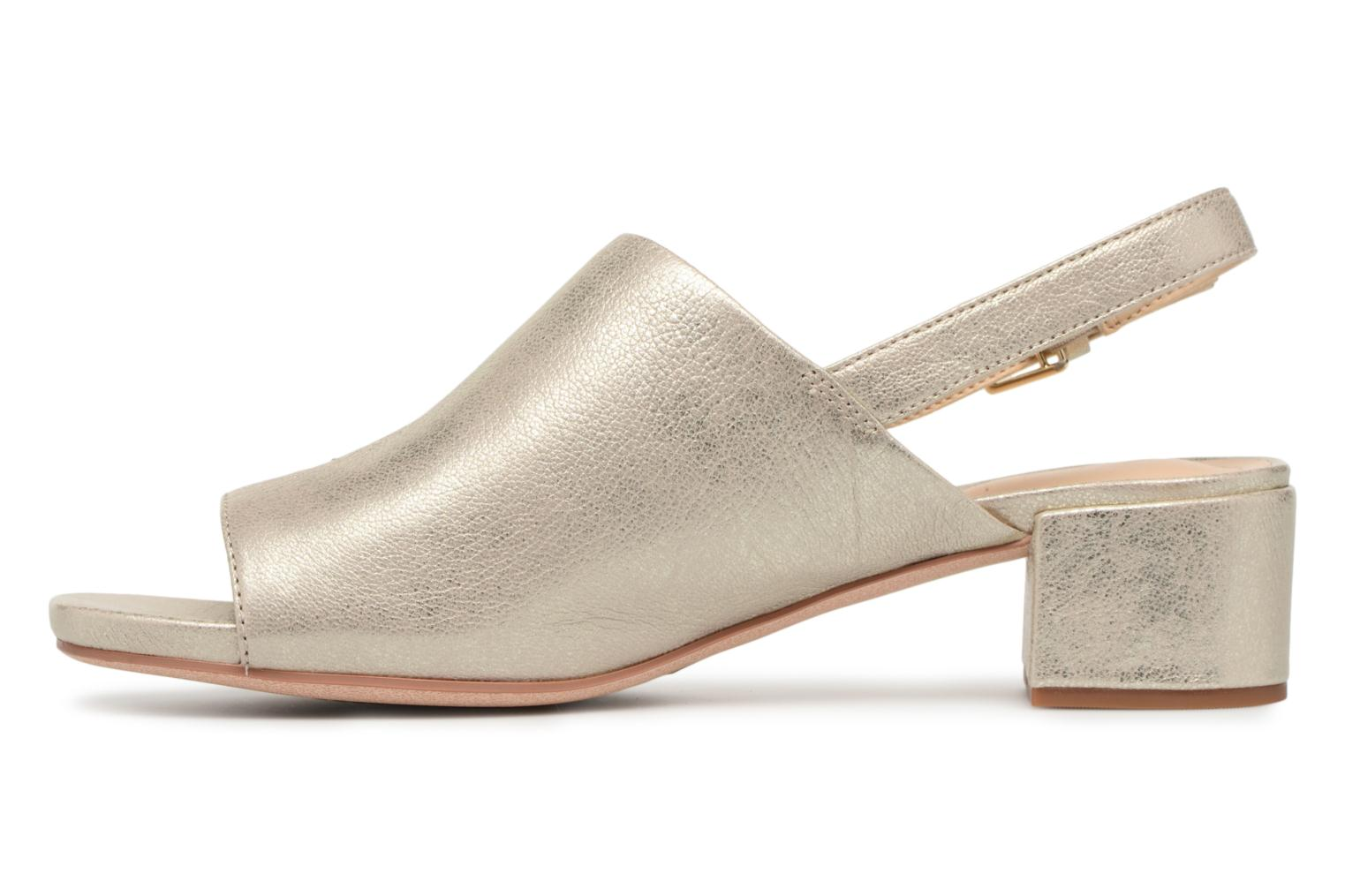 Sandals Clarks Orabella Ivy Bronze and Gold front view