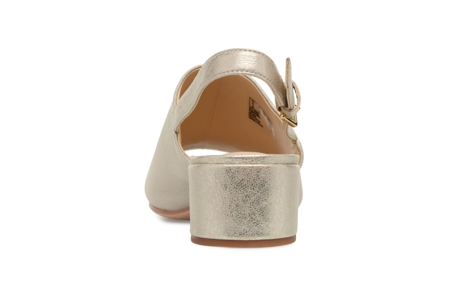 Sandals Clarks Orabella Ivy Bronze and Gold view from the right