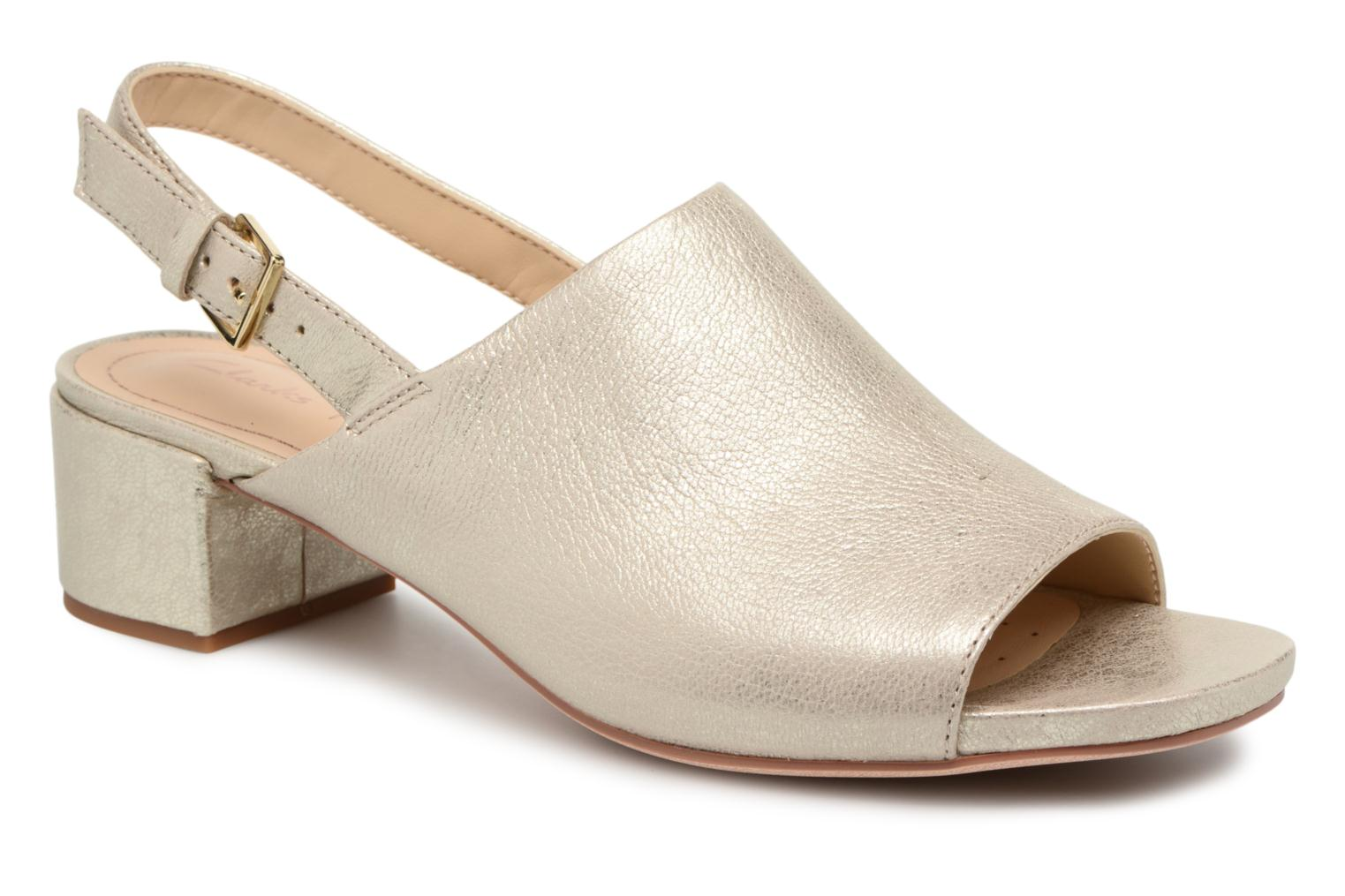 Sandals Clarks Orabella Ivy Bronze and Gold detailed view/ Pair view