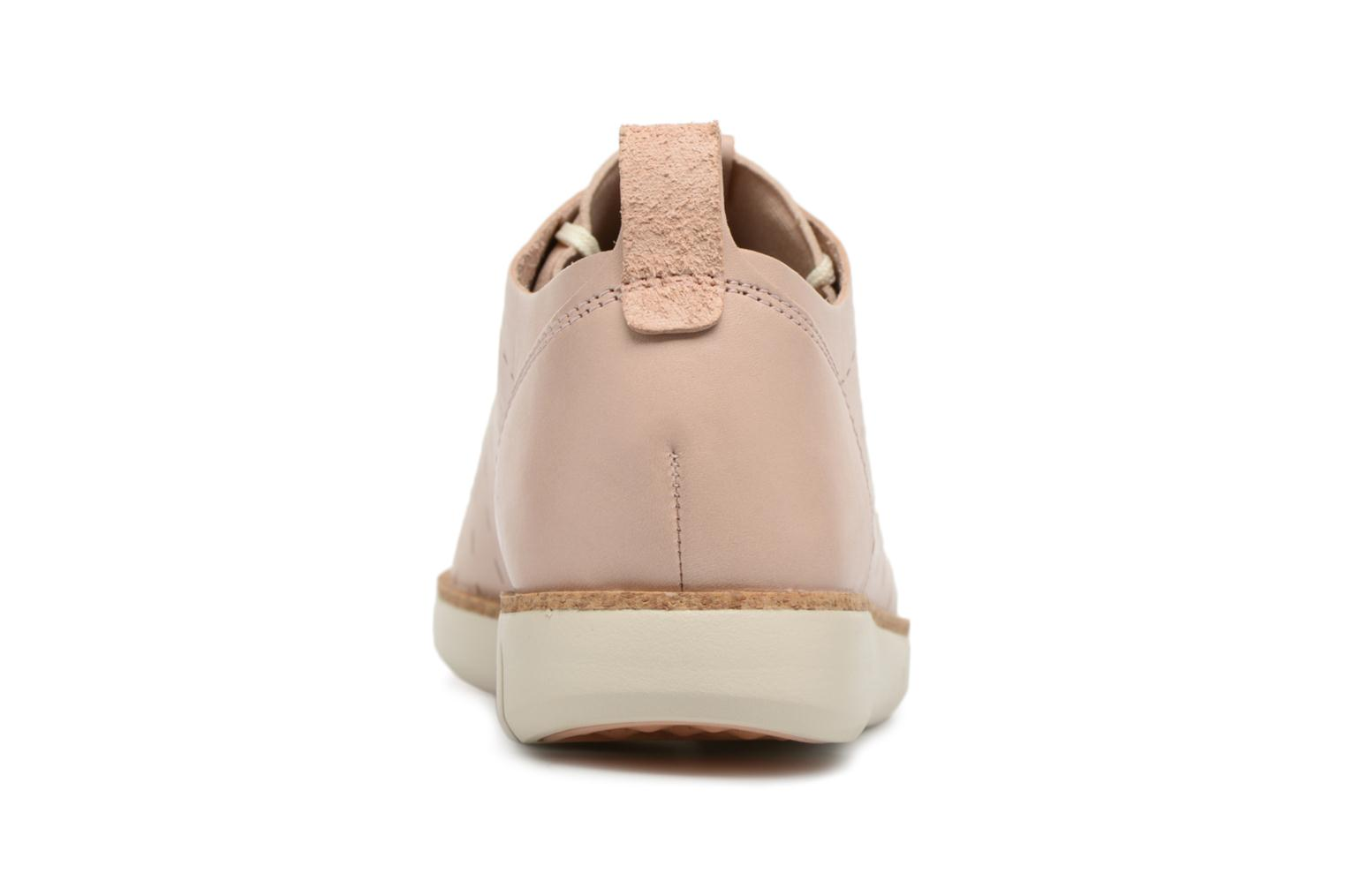 Lace-up shoes Clarks Tri Etch Beige view from the right