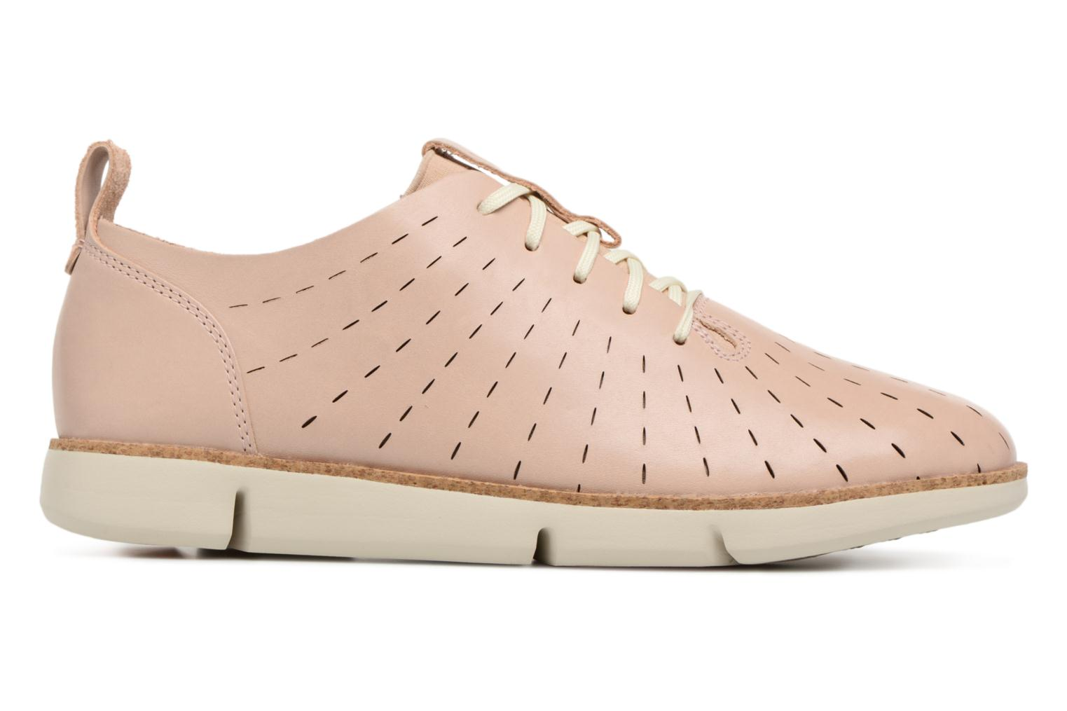 Lace-up shoes Clarks Tri Etch Beige back view