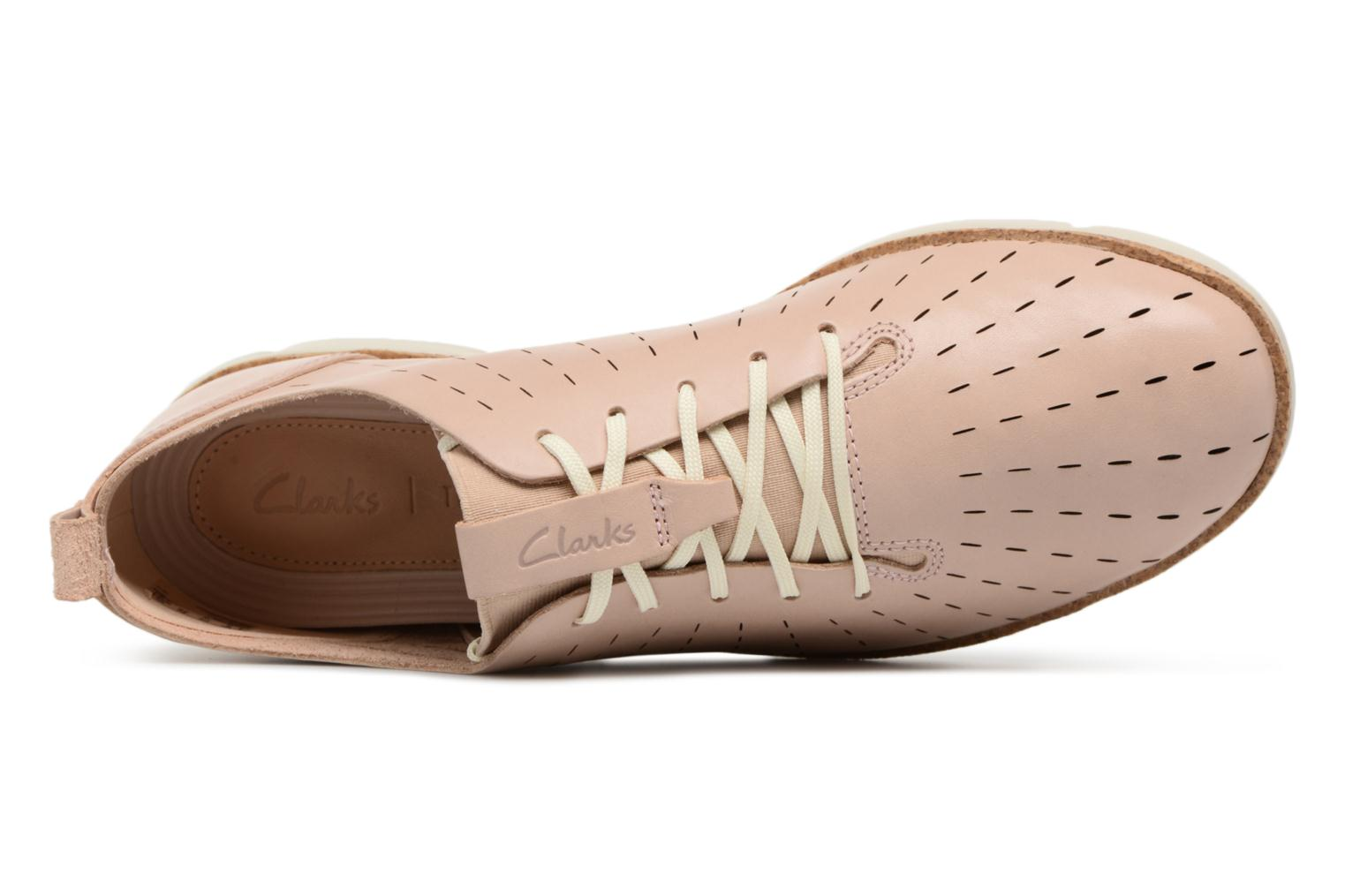 Lace-up shoes Clarks Tri Etch Beige view from the left
