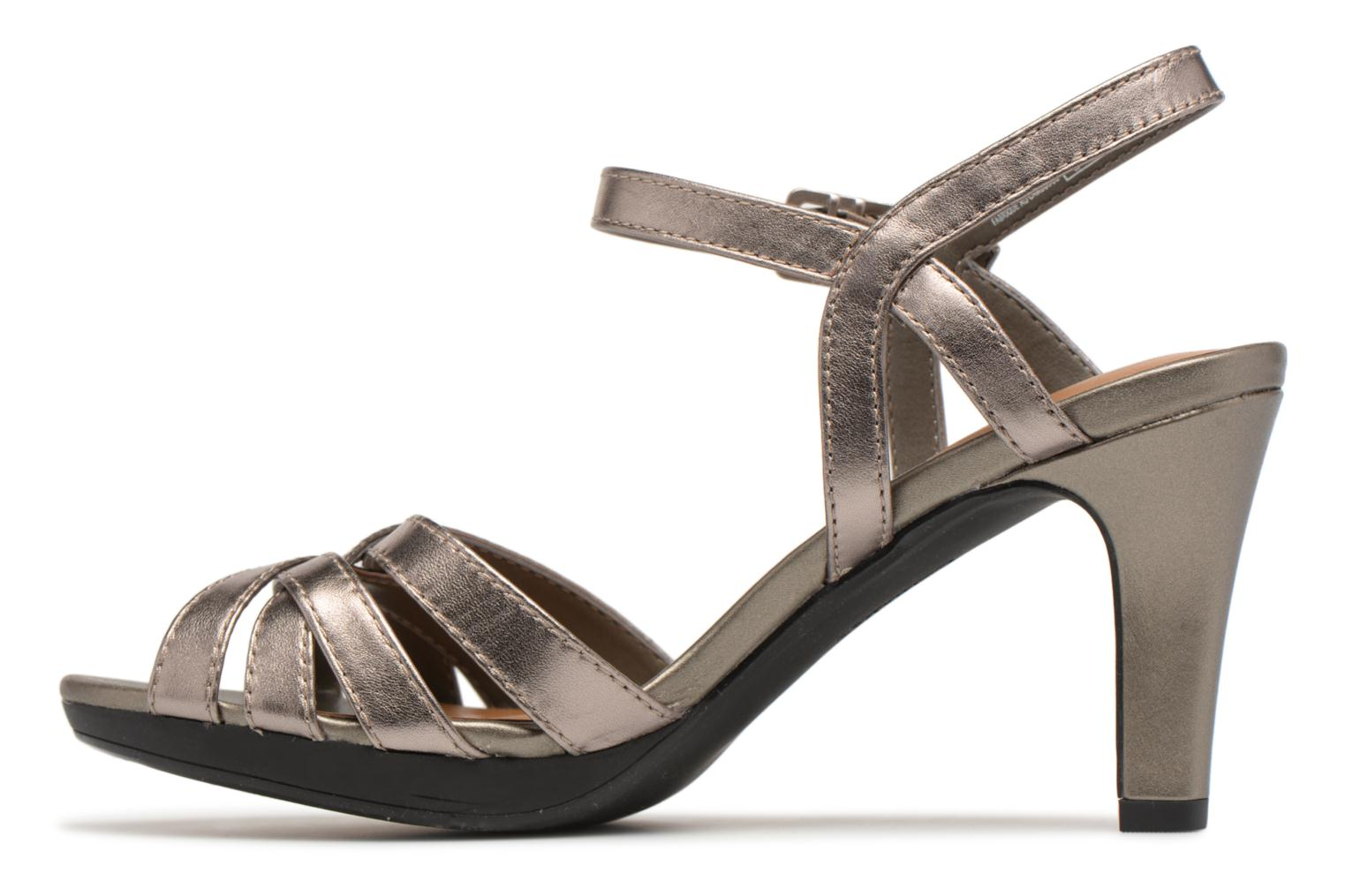 Sandals Clarks Adriel wavy Bronze and Gold front view