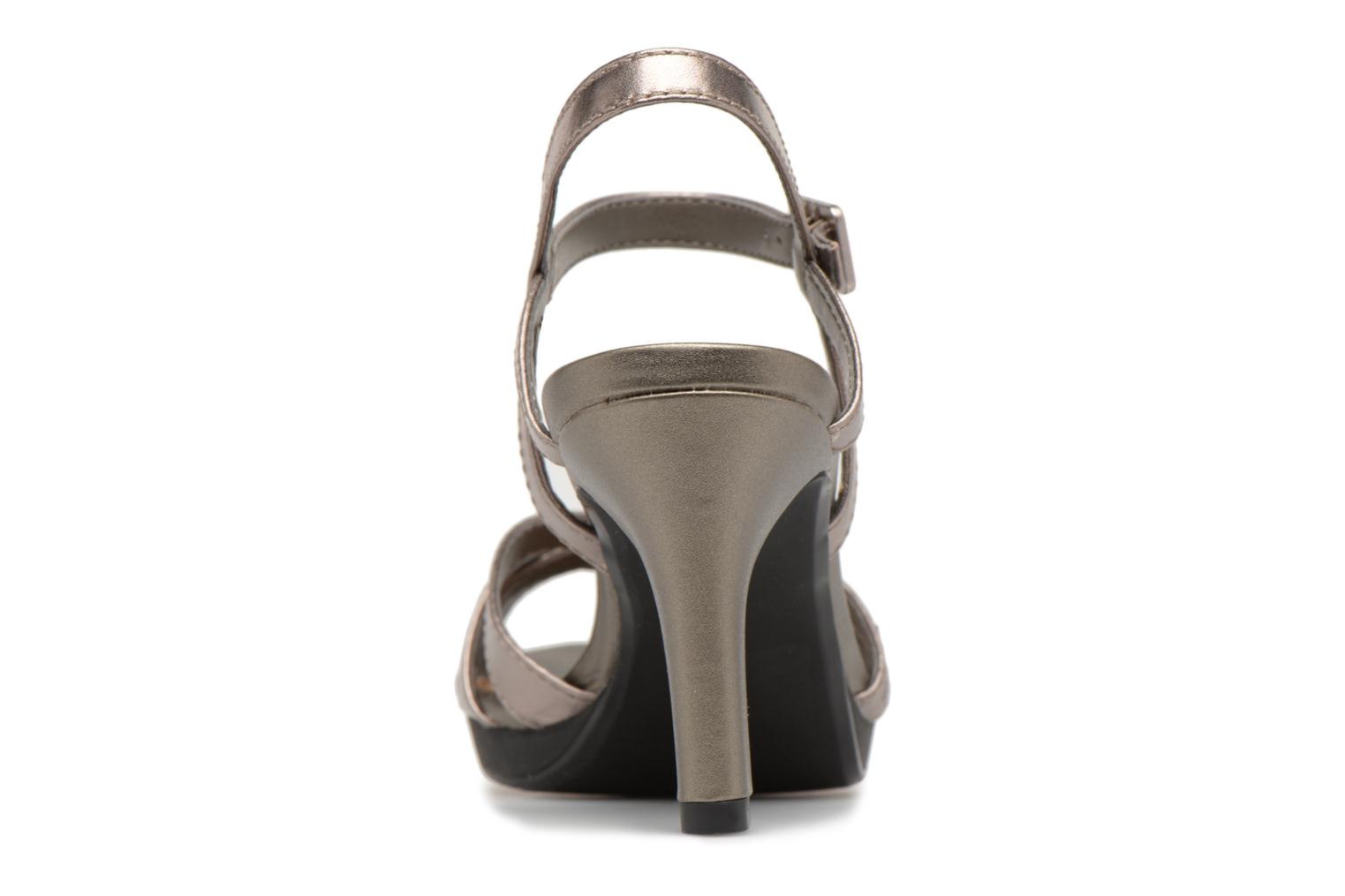 Sandals Clarks Adriel wavy Bronze and Gold view from the right