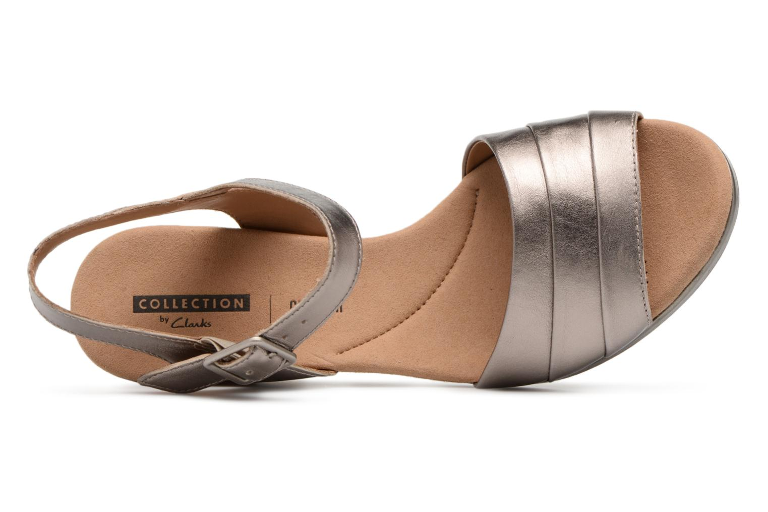 Sandals Clarks Lafley aletha Bronze and Gold view from the left