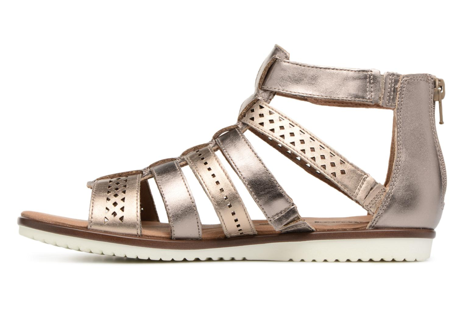 Sandals Clarks Kele lotus Bronze and Gold front view