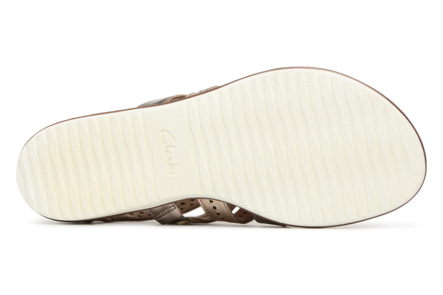 Sandals Clarks Kele lotus Bronze and Gold view from above