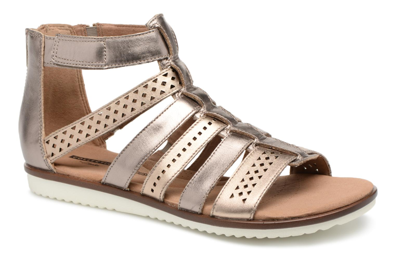 Sandals Clarks Kele lotus Bronze and Gold detailed view/ Pair view
