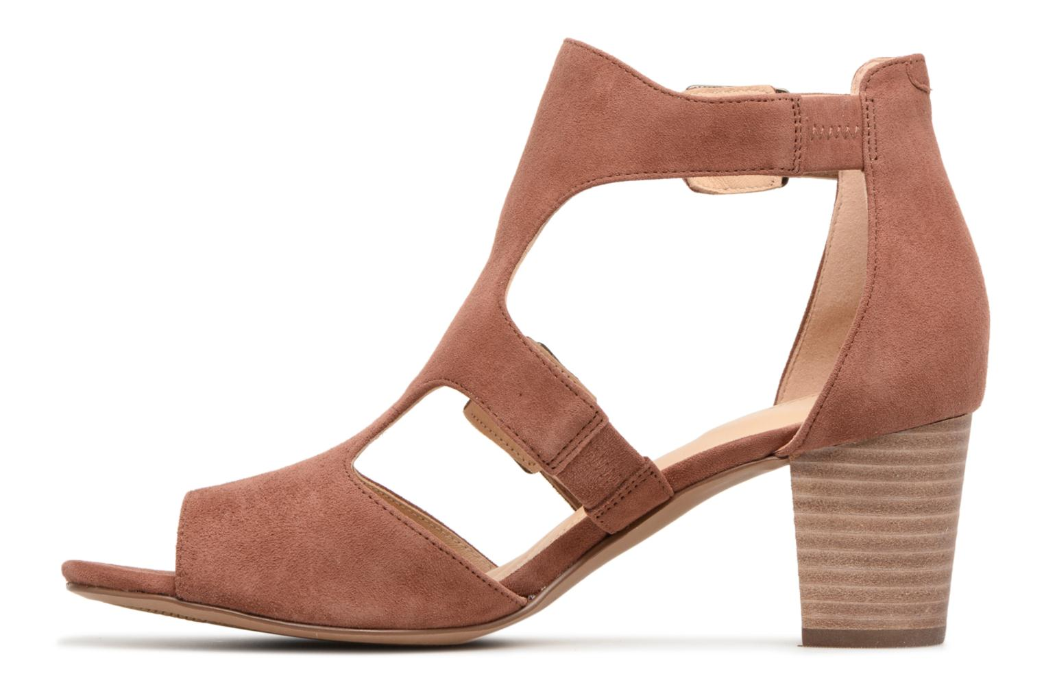Sandals Clarks Deloria Kay Pink front view