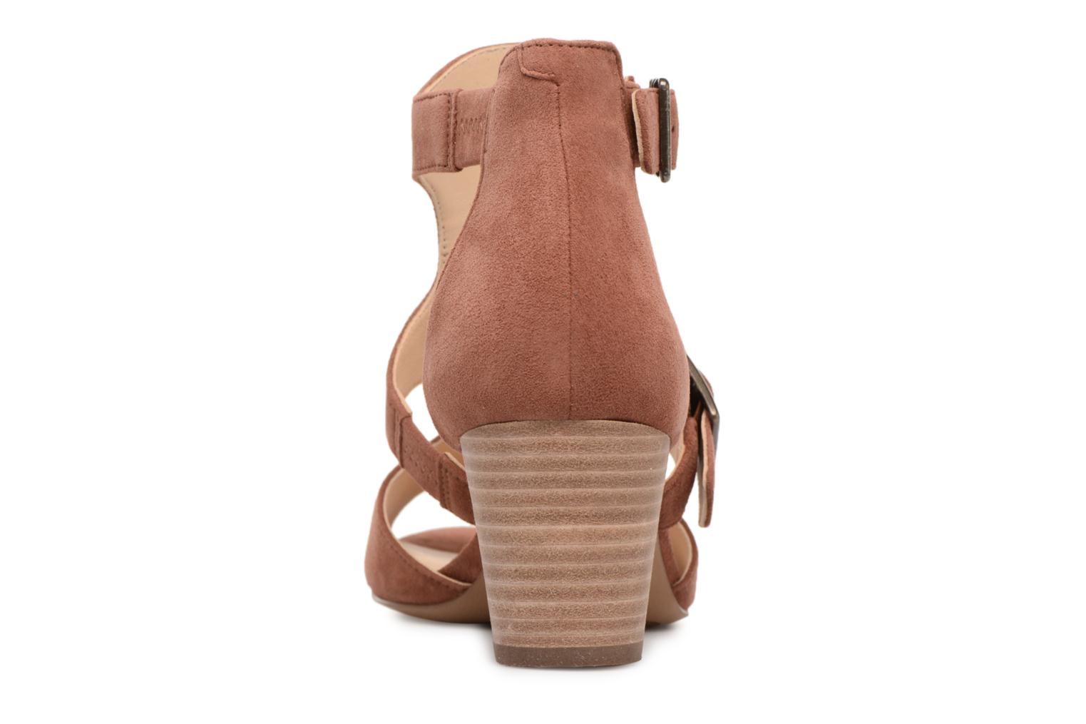 Sandals Clarks Deloria Kay Pink view from the right