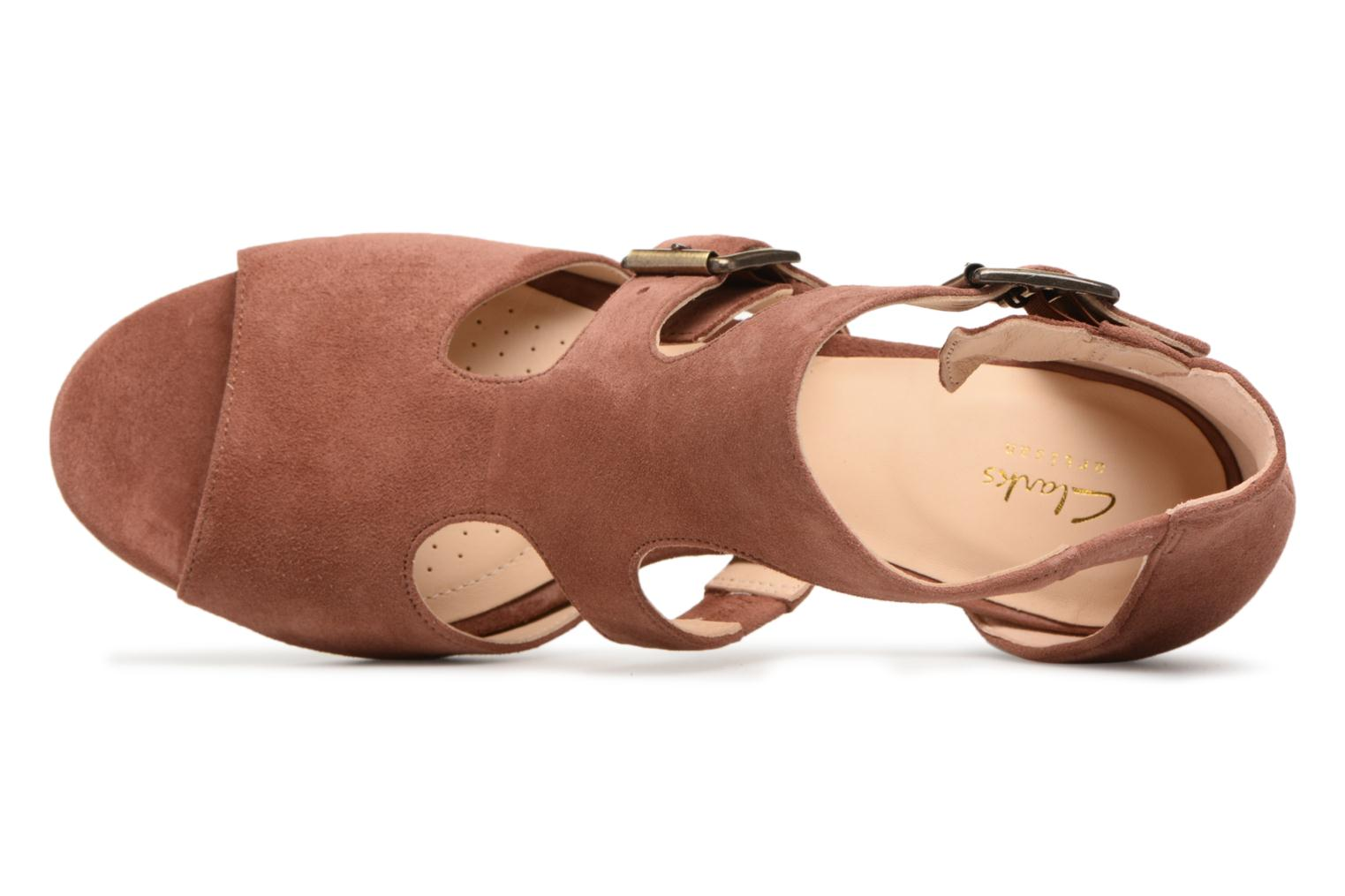 Sandals Clarks Deloria Kay Pink view from the left