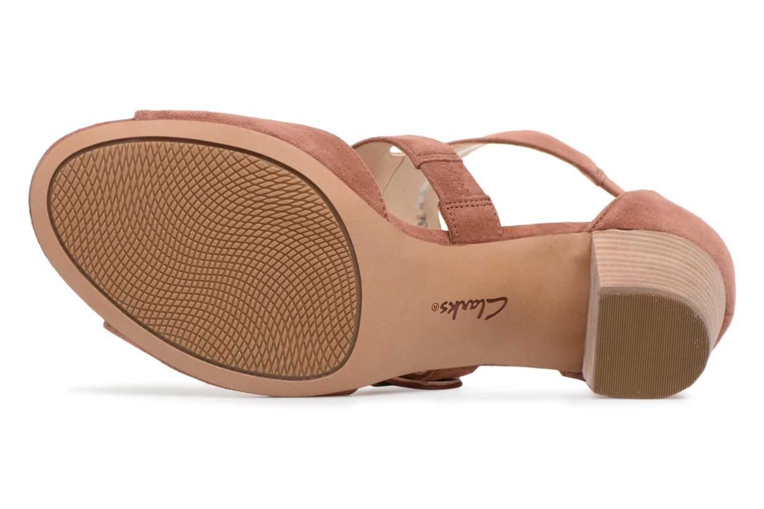 Sandals Clarks Deloria Kay Pink view from above