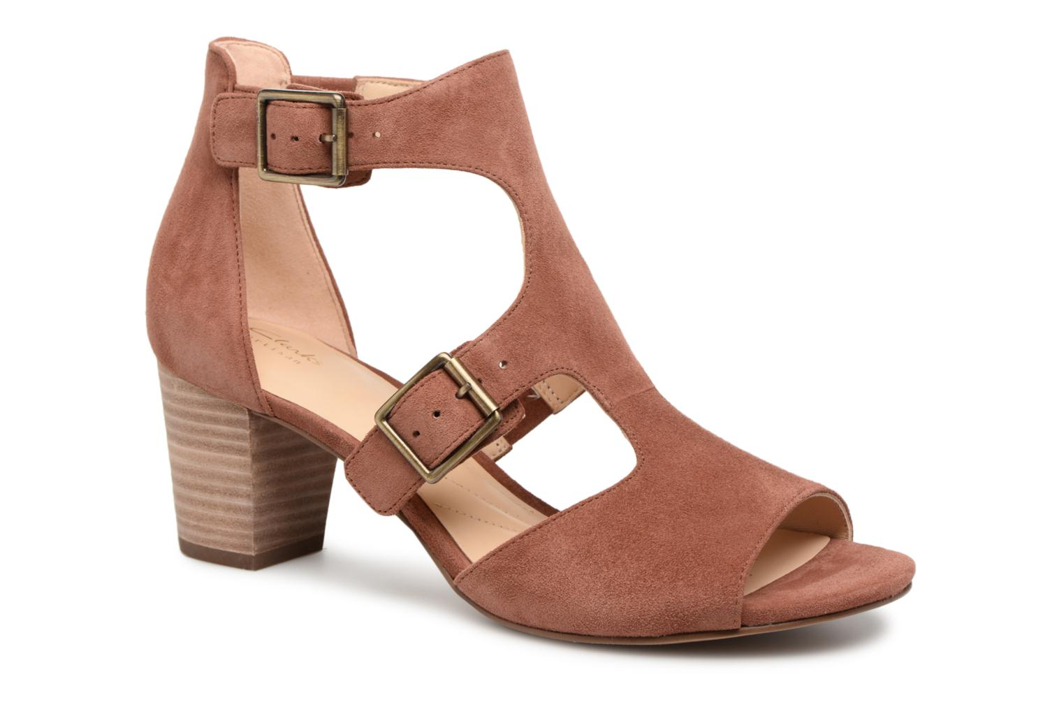 Sandals Clarks Deloria Kay Pink detailed view/ Pair view