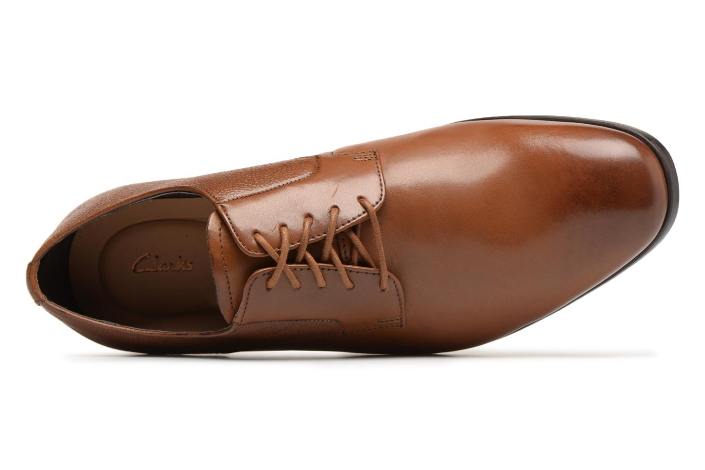 Chaussures à lacets Clarks Gilmore Lace Marron vue gauche