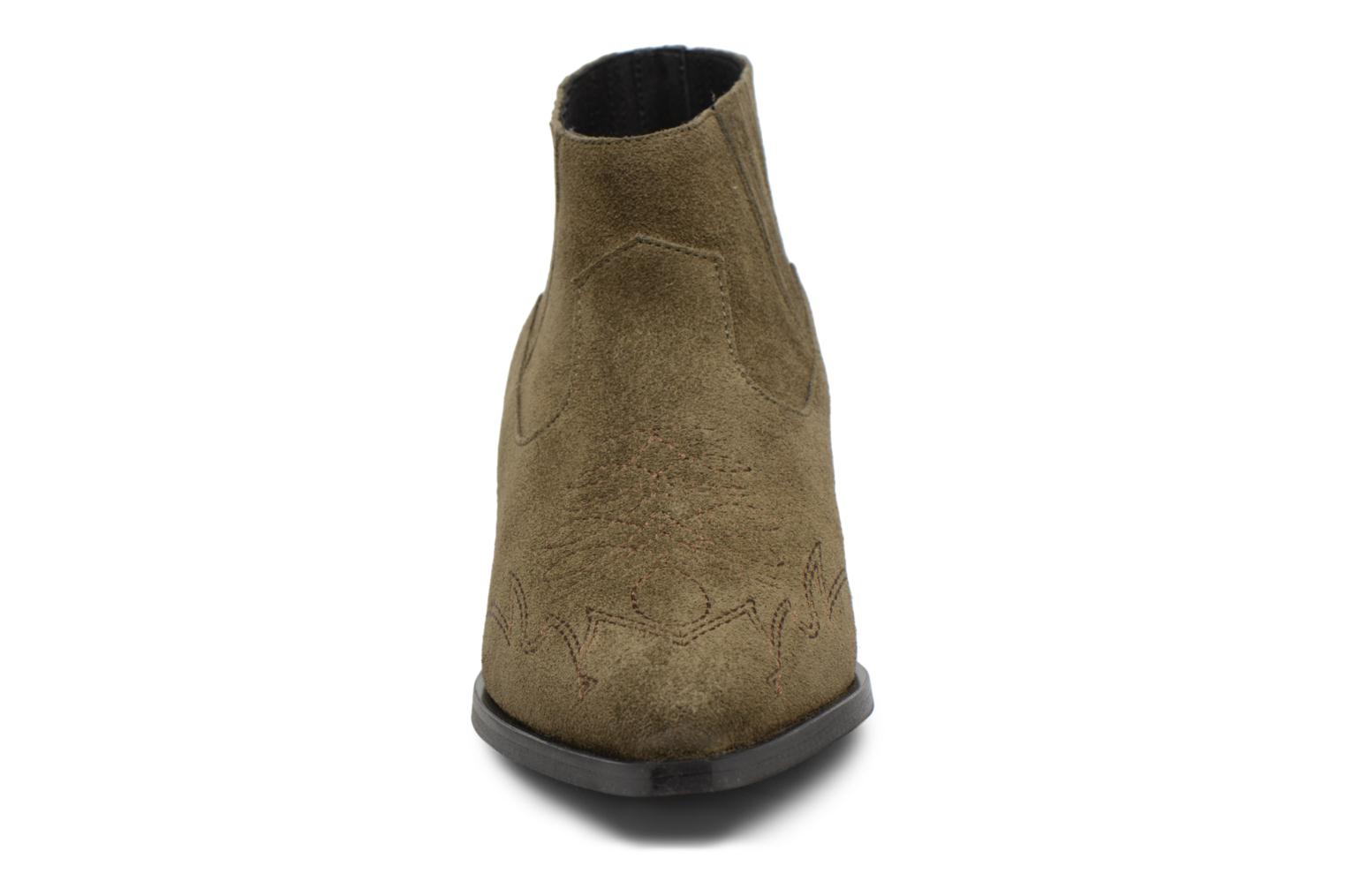 Ankle boots Vero Moda TOBIA LEATHER BOOT Green model view
