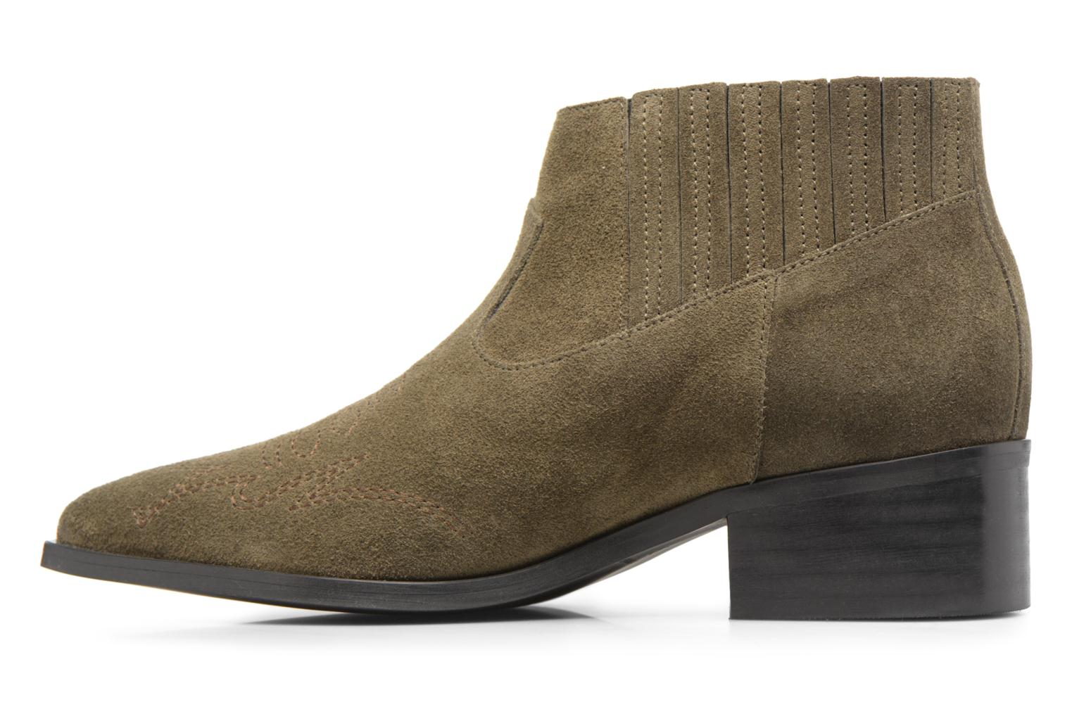 Ankle boots Vero Moda TOBIA LEATHER BOOT Green front view