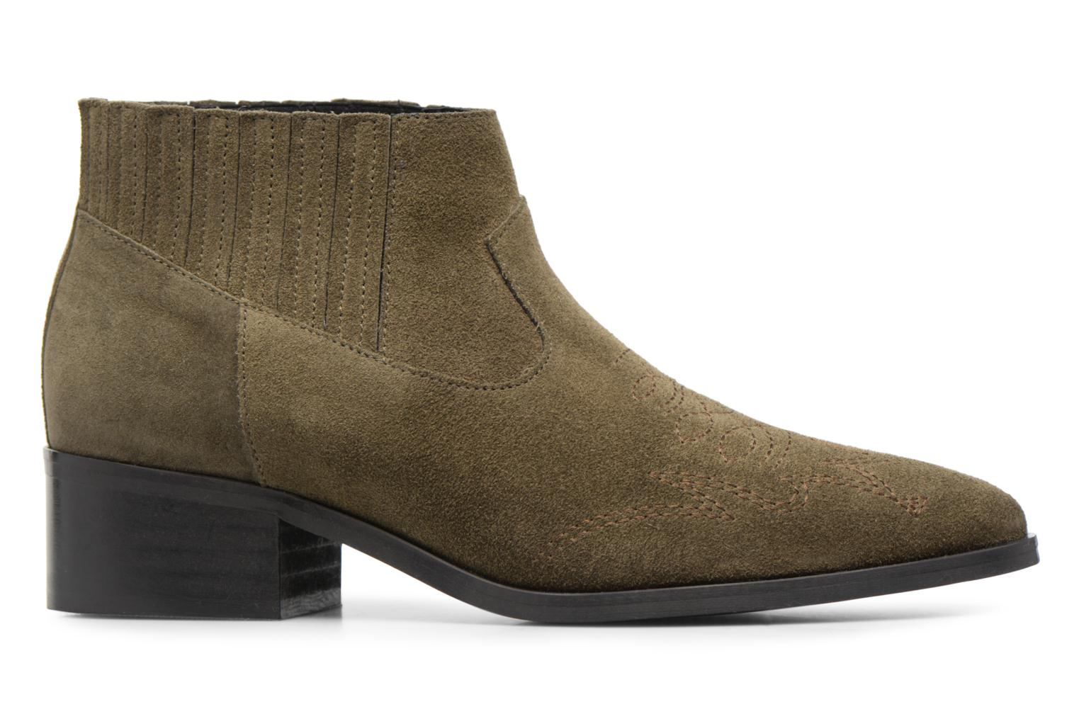Ankle boots Vero Moda TOBIA LEATHER BOOT Green back view