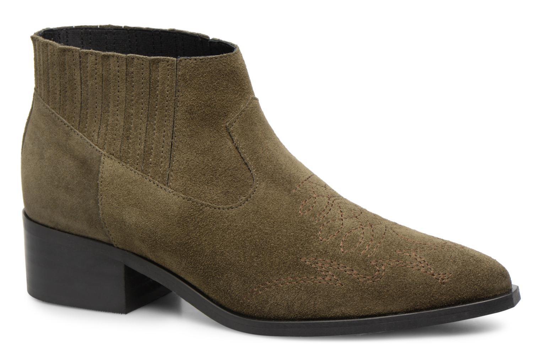 Zapatos promocionales Vero Moda TOBIA LEATHER BOOT (Verde) - Botines    Gran descuento