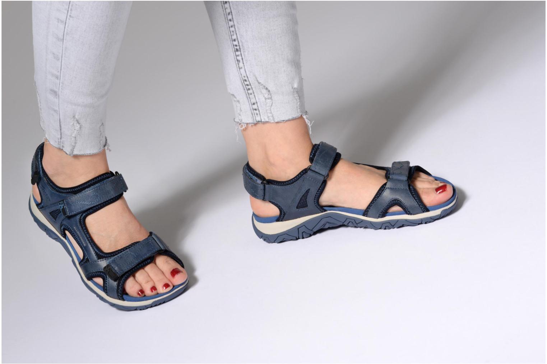 Chaussures de sport Allrounder by Mephisto Larisa Bleu vue bas / vue portée sac