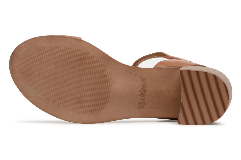 Sandales et nu-pieds Kickers Volou Marron vue haut