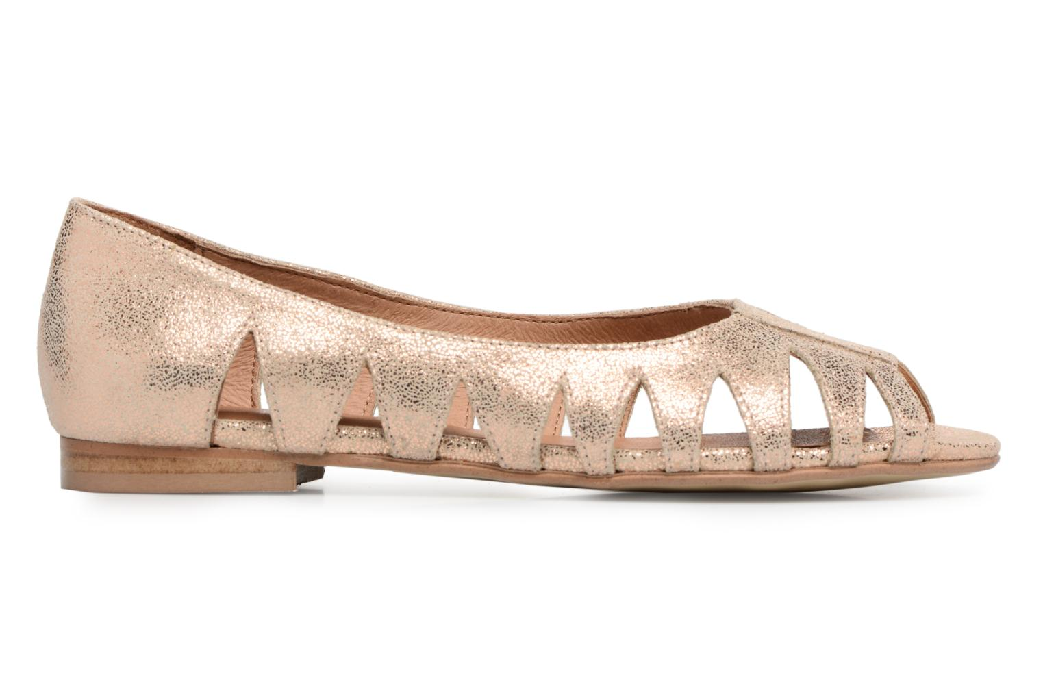 Ballet pumps Georgia Rose Escagea Bronze and Gold back view