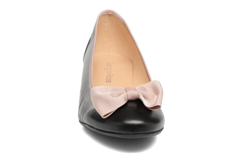 Ballerines Georgia Rose Sanova Noir vue portées chaussures