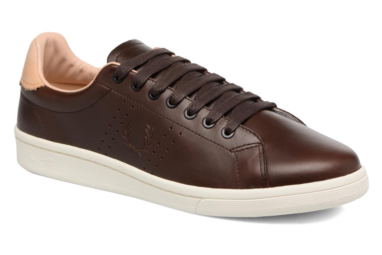 Fred Perry B721 Vintage Tennis Leather (Marron) - Baskets chez Sarenza (320671)
