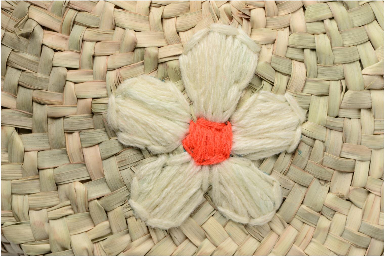 Handtassen Etincelles Sac rond bandoulière + motif fleur Beige achterkant