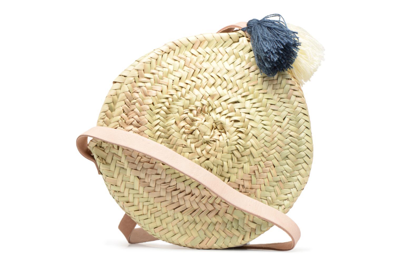 Handtassen Etincelles Panier rond bandoulière + Pompons Beige voorkant