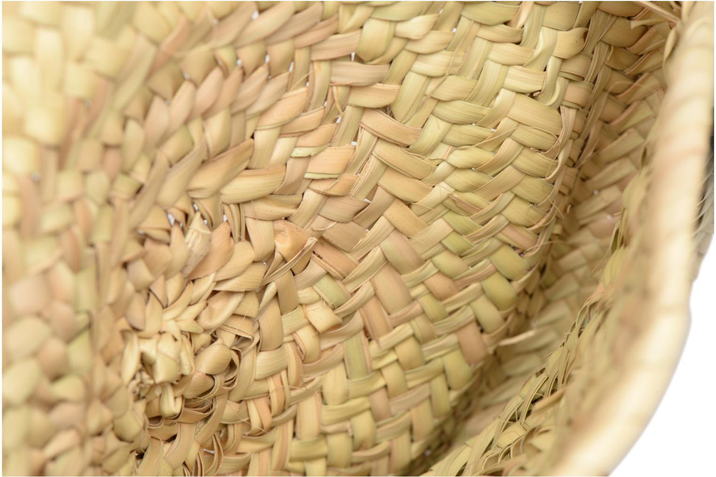 Handtassen Etincelles Panier rond bandoulière + Pompons Beige achterkant