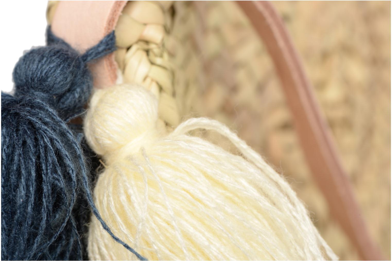 Handtassen Etincelles Panier rond bandoulière + Pompons Beige links