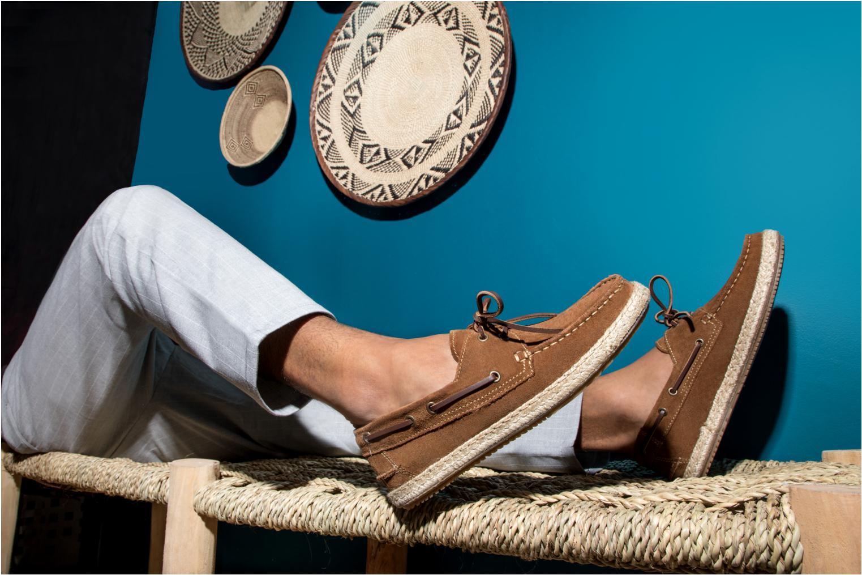 Chaussures à lacets Mr SARENZA Sboat Marron vue bas / vue portée sac