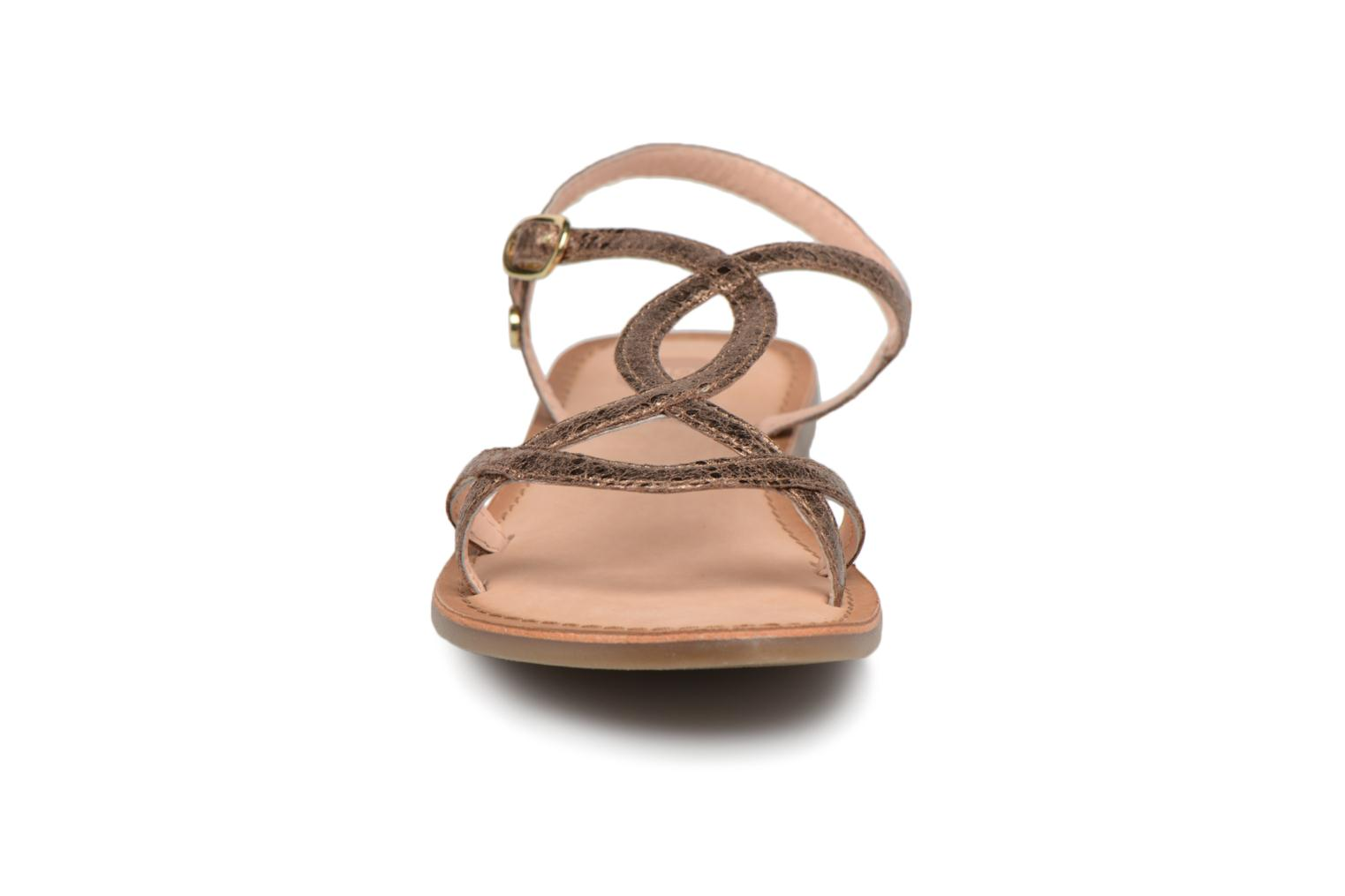 Sandals Gioseppo Soraya Bronze and Gold model view