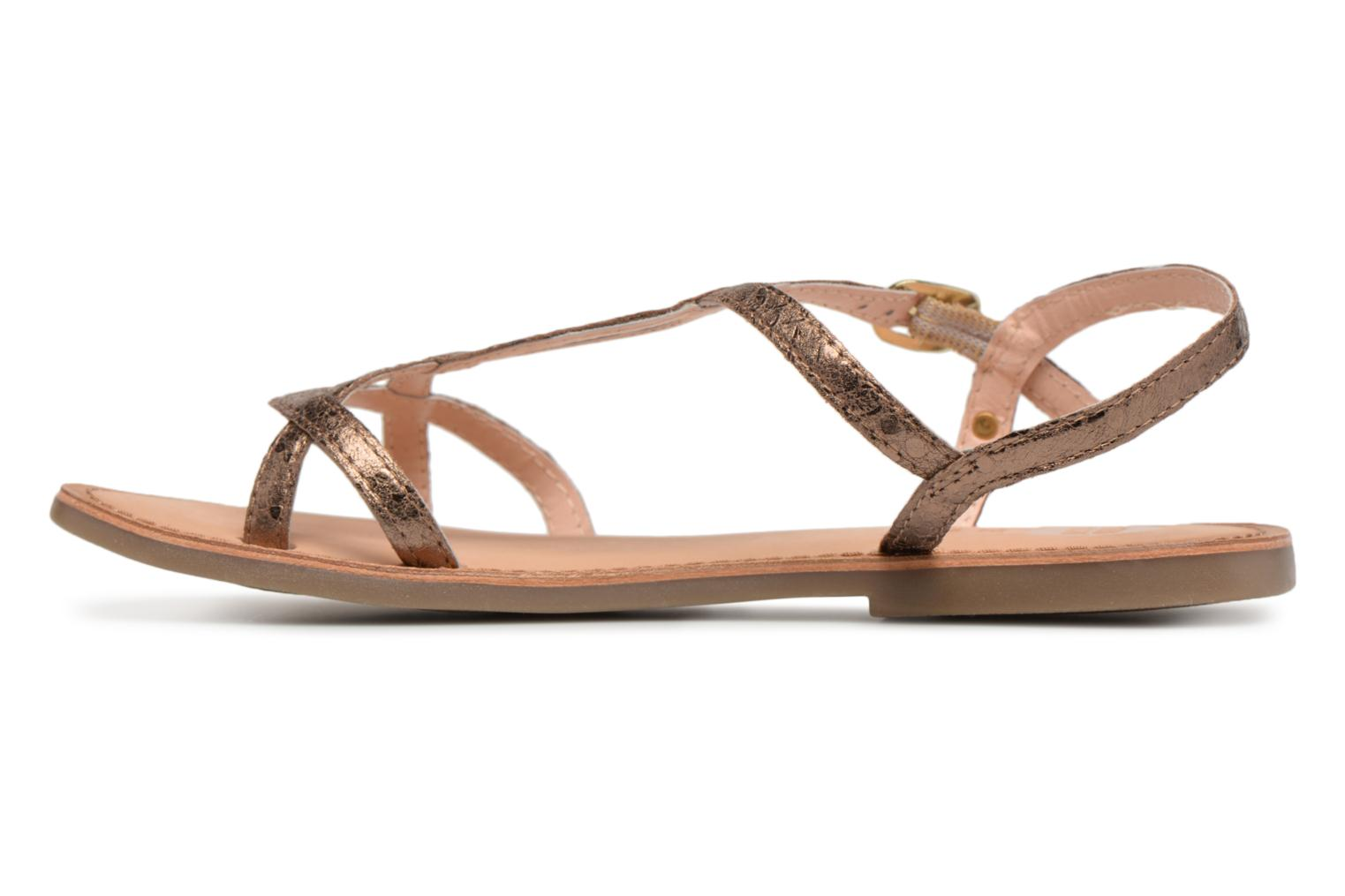 Sandals Gioseppo Soraya Bronze and Gold front view