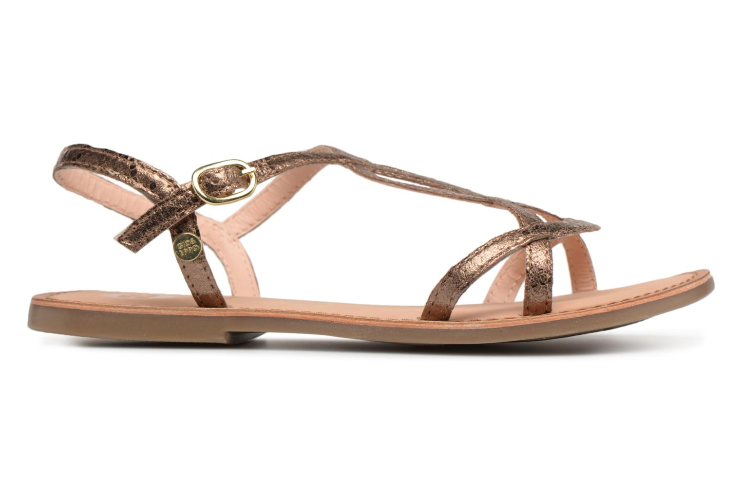 Sandals Gioseppo Soraya Bronze and Gold back view