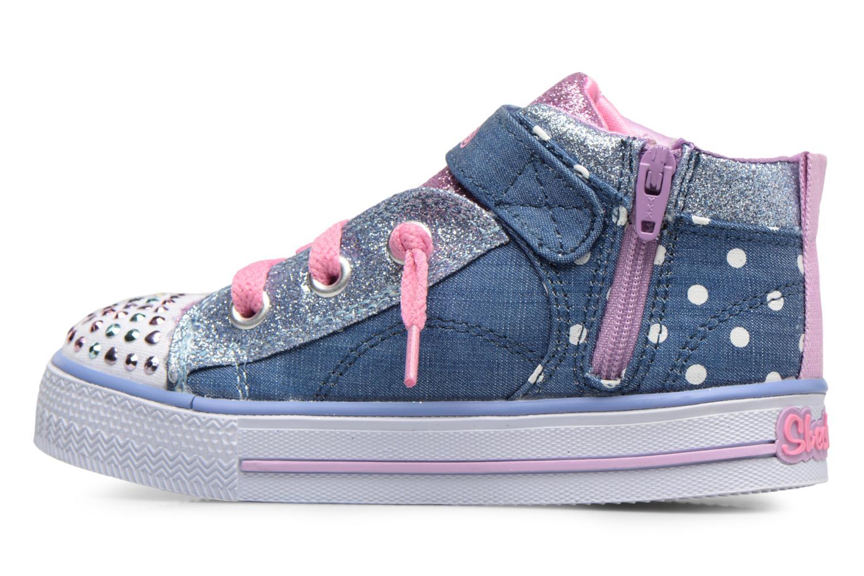 Sneakers Skechers Shuffles Diggity Dot Azzurro immagine frontale