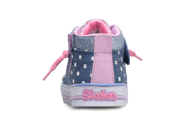 Sneakers Skechers Shuffles Diggity Dot Azzurro immagine destra
