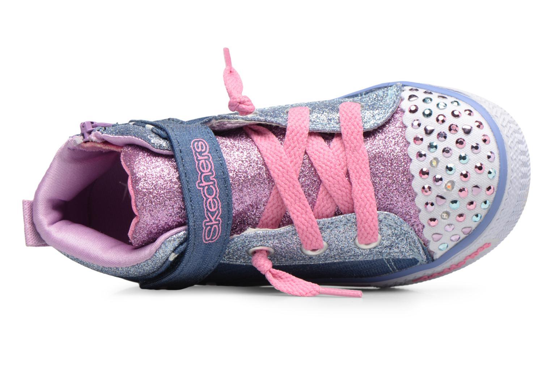 Sneakers Skechers Shuffles Diggity Dot Azzurro immagine sinistra